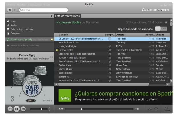 Spotify - Ejemplo de cloud computing en la música