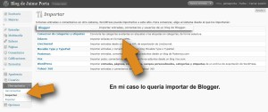 Importante el blog a WordPress desde Blogger