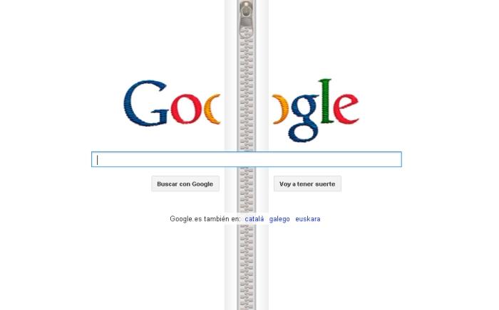 Pagina de inicio de Google