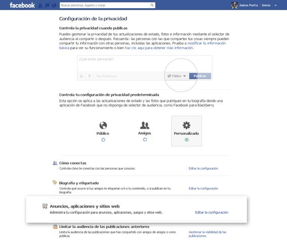 Paso 1 para configurar tu privacidad en Facebook
