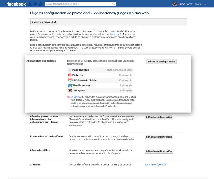 Paso 2 para configurar tu privacidad en Facebook