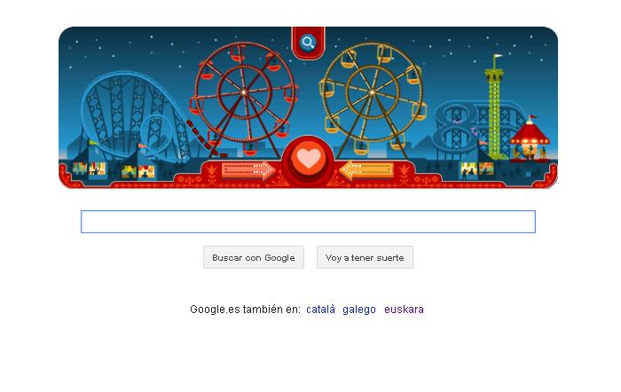 Imagen del doodle de Google por San Valentine