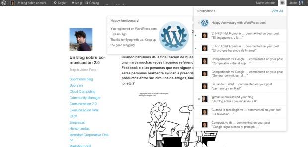 Tres años con este blog de comunicación online