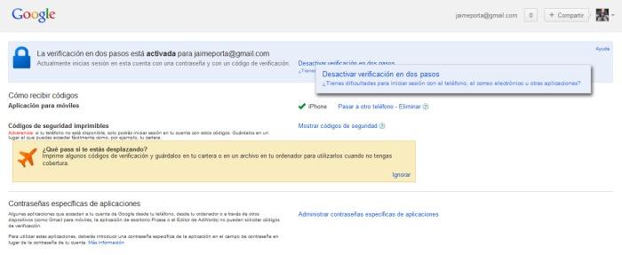 Configuración de cuenta de correo Gmail en un iPhone - Parte 2
