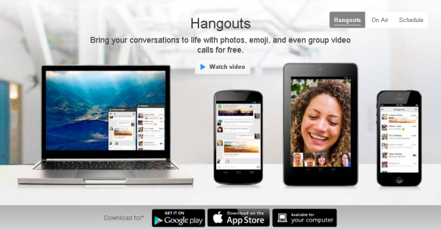 Sistema de Hangouts the Google, antes Google Talk, para móviles