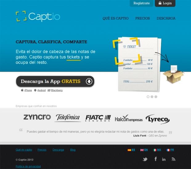 Nuevo sistema de gestión de notas de gasto en el Cloud - Captio