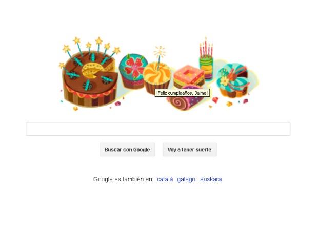 Doodle de Google por mi cumpleaños