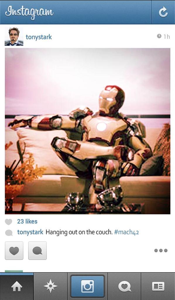 Ironman en instagram