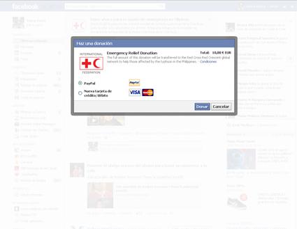 Donar a través de Facebook a los damnificados de Filipinas