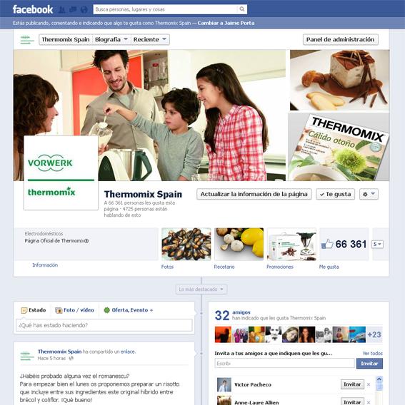 antiguo diseño de la página de fans de facebook