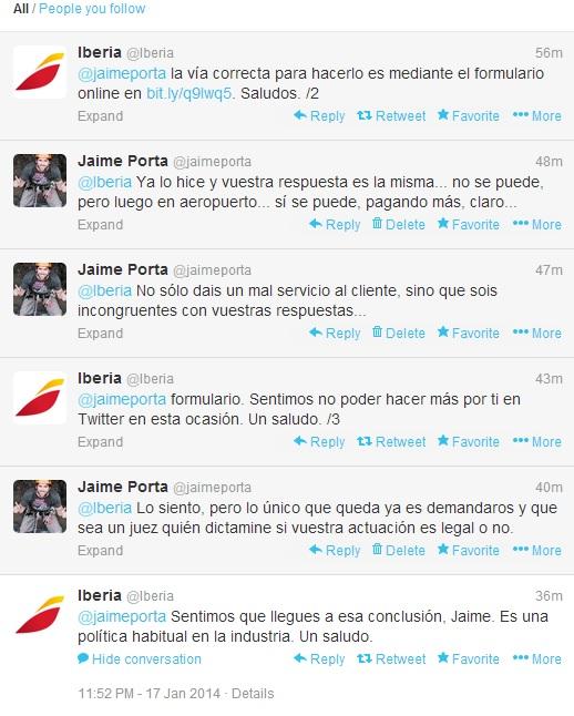 Iberia roba a sus clientes cancelando vuelos de vuelta al no presentarte en el de ida