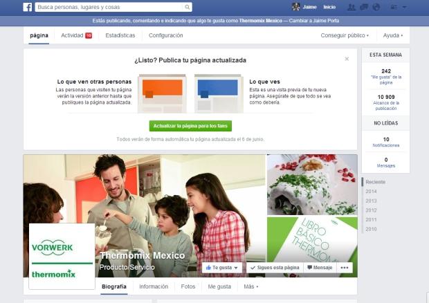 Diseño pagina de fans de Facebook