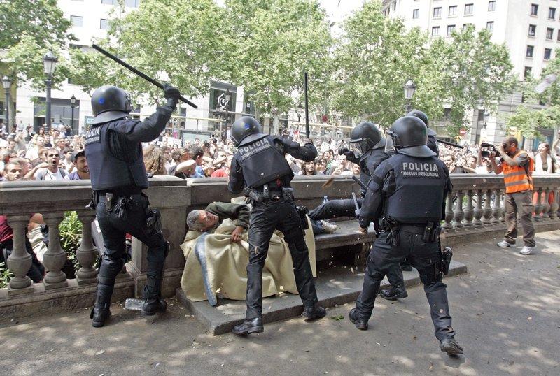 Foto trucada de la policía