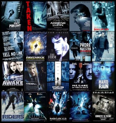 Carteles de películas corriendo