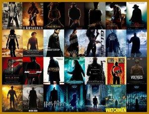 Carteles de películas de acción espalda