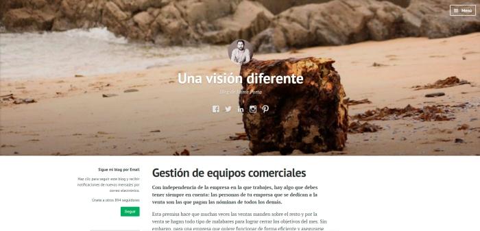 Nuevo diseño del blog de Jaime Porta