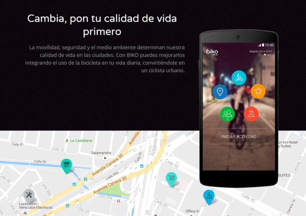 Aplicacion Biko para bicis en la ciudad