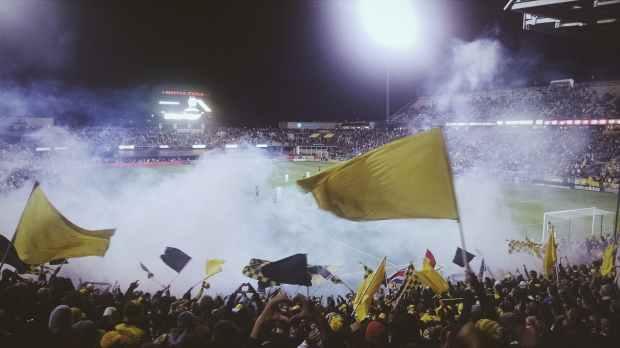 fans stadium field sport