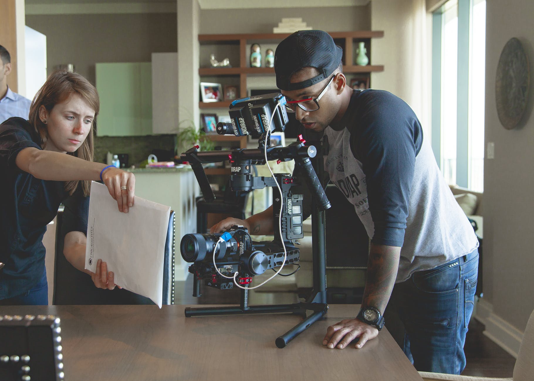 adult camera cinematography clap